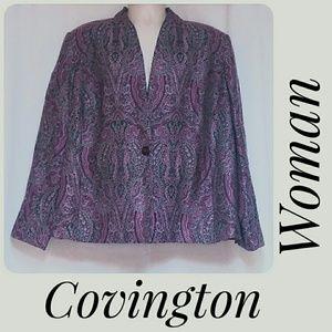 Covington Woman Plus-Size Unconstructed Blazer 22W
